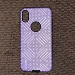 Lilac Diamond IPhone X Case